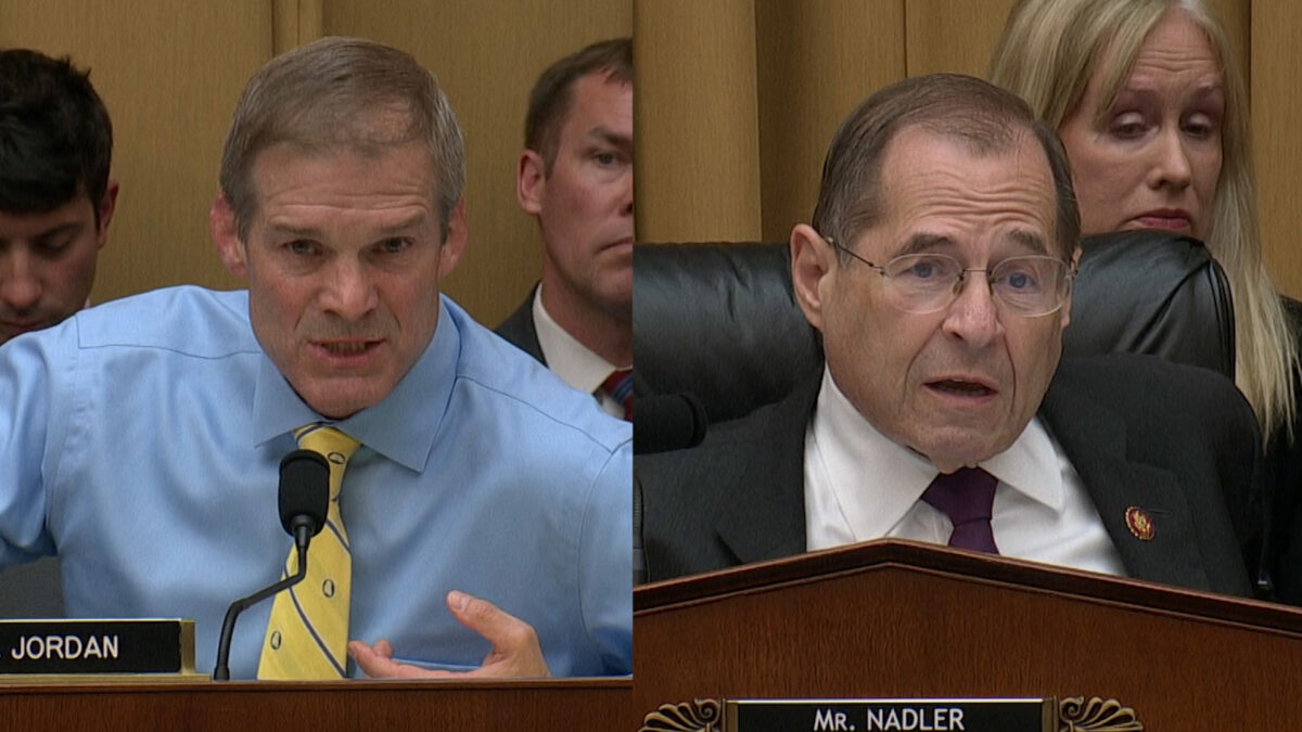 'What Are You Afraid Of?' Jim Jordan Takes Over Hearing - Goes Nuclear on Dem Rep. Nadler for Blocking GOP Measures